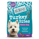 Burns Turkey Bites Grain-free Hypoallergenic Dog Treats, 200g