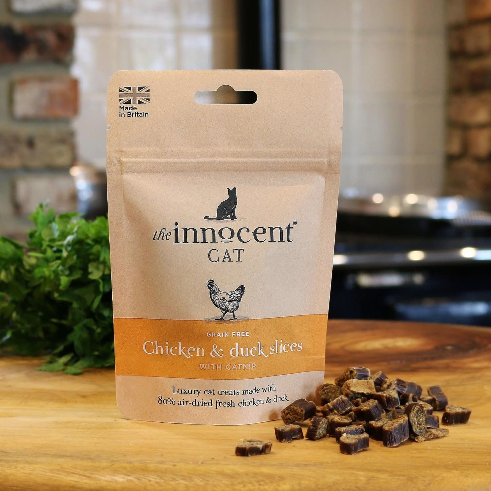 The Innocent Pet Chicken & Duck Slices with Catnip Cat Treats, 70g
