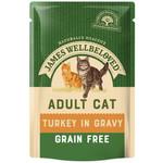 James Wellbeloved Grain Free Adult Cat Wet Food Pouch, Turkey, 85g