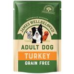 James Wellbeloved Grain Free Adult Dog Wet Food Pouch Turkey, 100g
