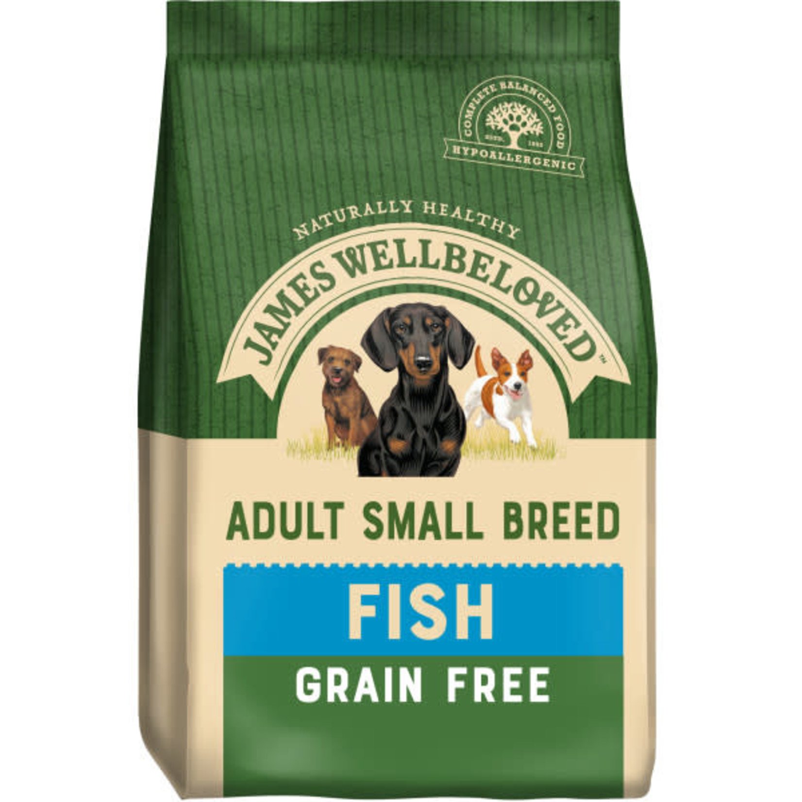 James Wellbeloved Grain Free Small Breed Adult Dog Dry Food, Fish & Vegetable, 1.5kg