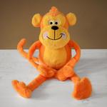 Zöon Cheekie Monkey Squeaky Plush Dog Toy