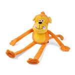 Zöon Jumbo Cheekie Monkey Large Squeaky Plush Dog Toy