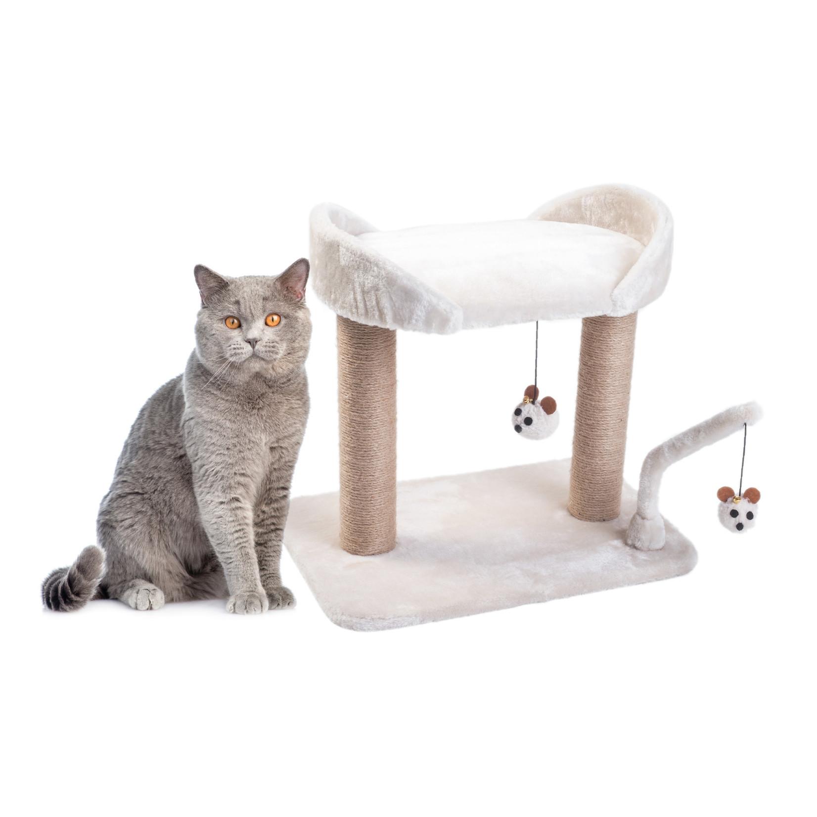 Zöon Deluxe Dual-Deck Cat Scratching Post, 1m