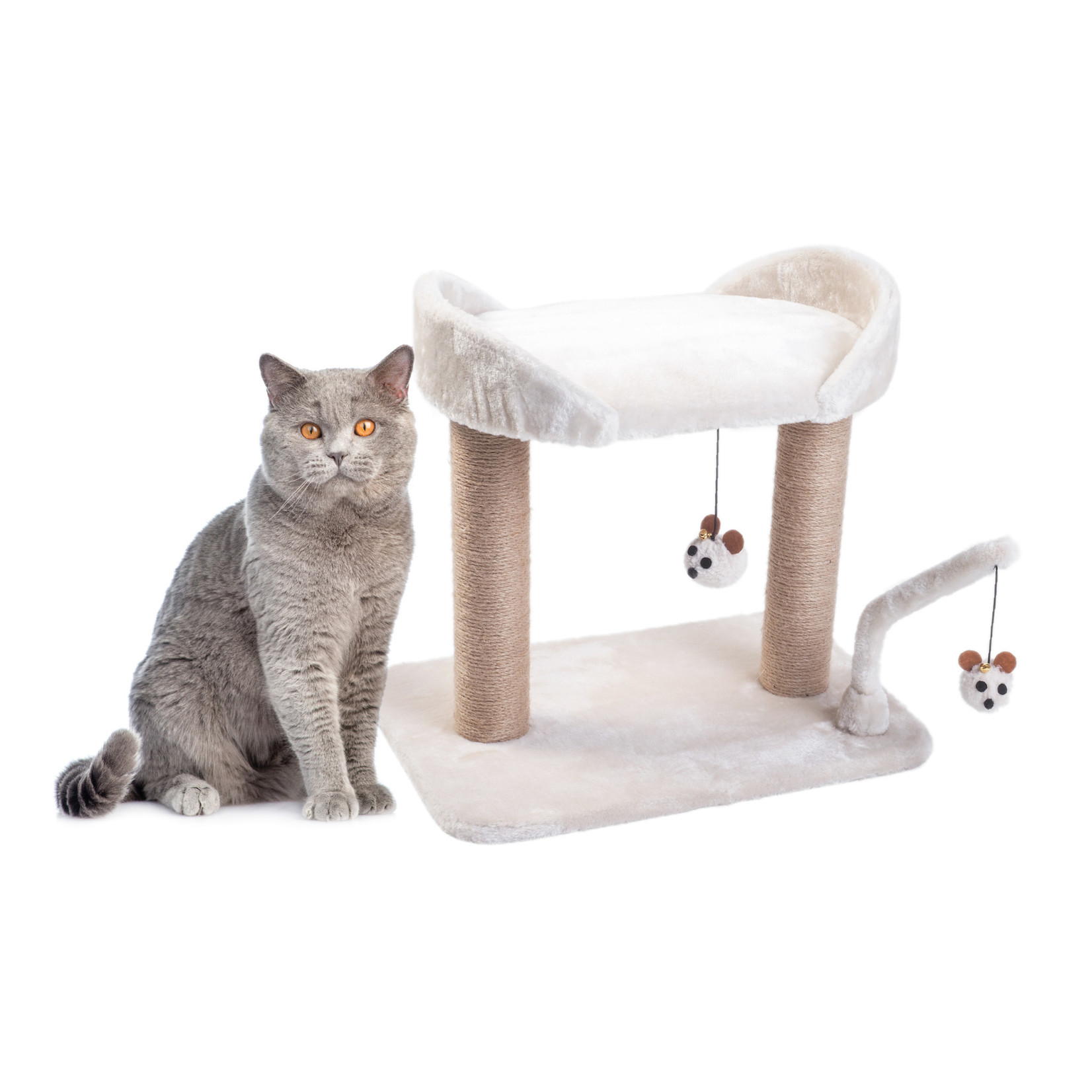 Zoon Deluxe Dual-Deck Cat Scratching Post, 1m