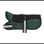 Animate Reflective Black & Green Unpadded Harness Dog Coat plus Collar