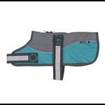 Animate Reflective Grey & Teal Padded Harness Dog Coat