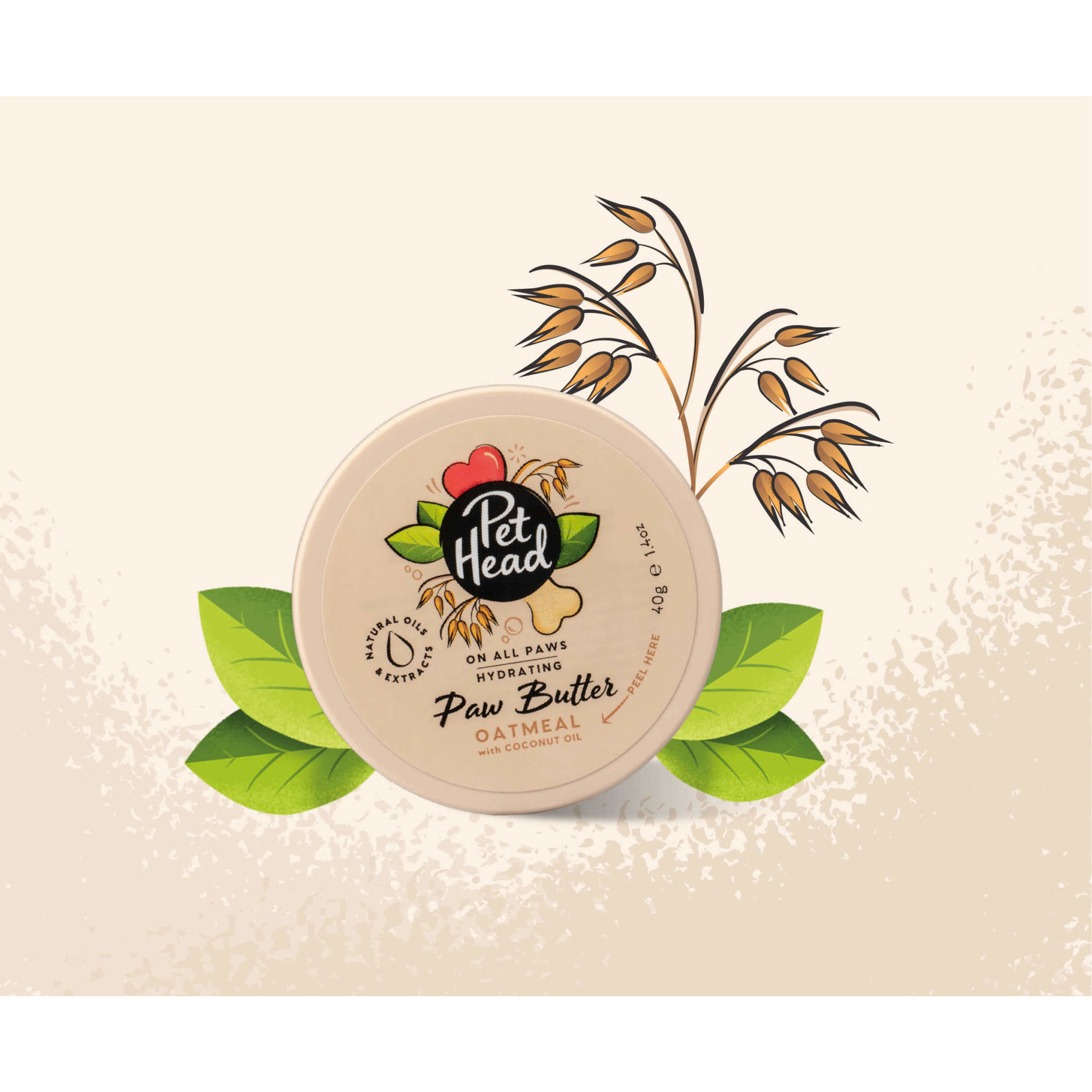 Company of Animals Pet Head On All Paws Oatmeal Paw Butter, 40g