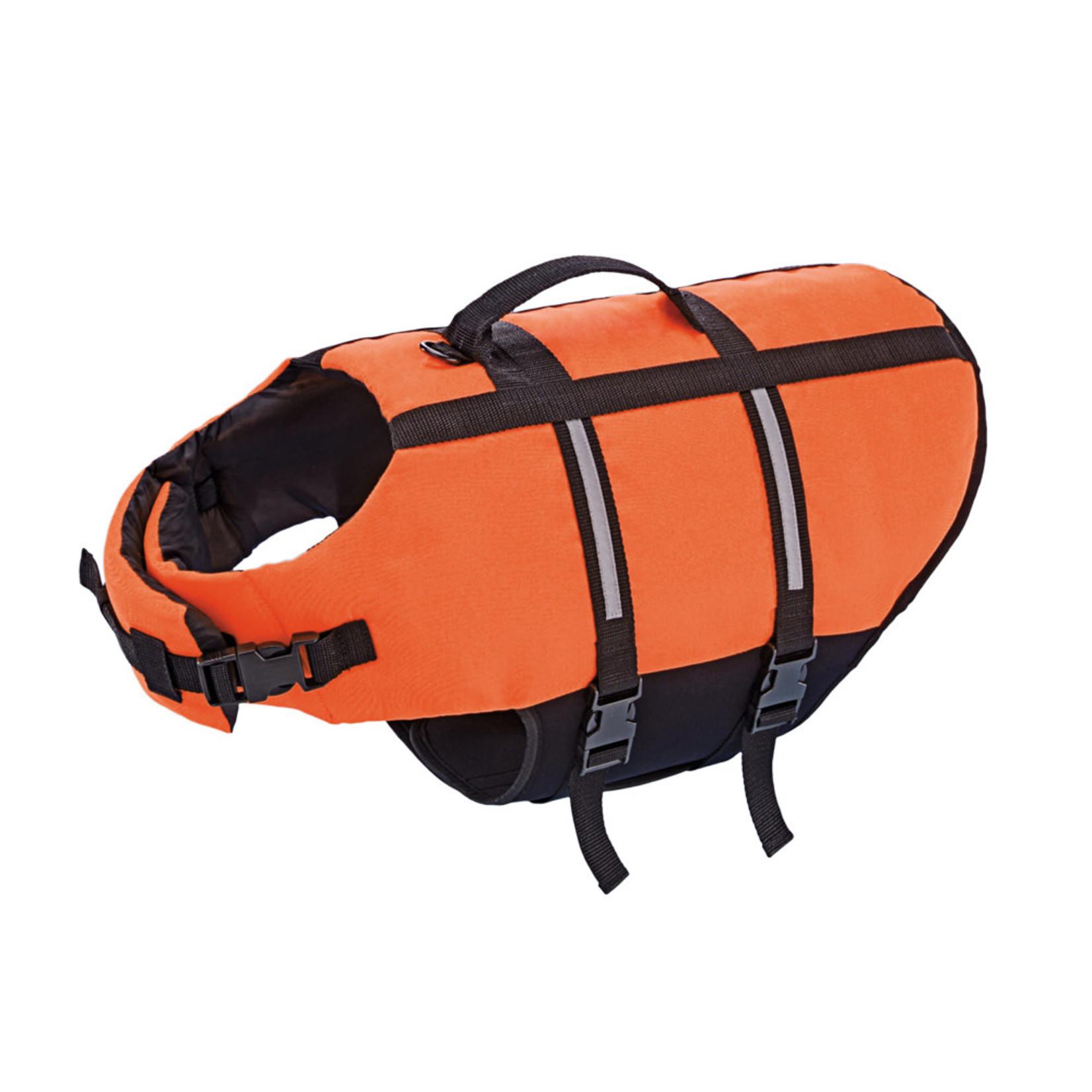 Nobby Dog Buoyancy Aid with Reflective Stripes, Neon Orange