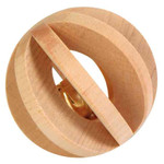 Trixie Slat Ball with Bell Small Animal Toy, 6cm
