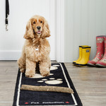 Pet Rebellion Stop Muddy Paws Floor Runner Mat, Black, 45x150cm