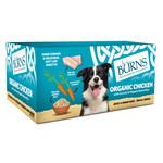 Burns Adult & Senior Wet Dog Food Organic Chicken, Vegetables & Brown Rice, 6 x 395g