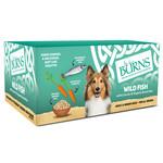Burns Adult & Senior Wet Dog Food Wild Fish, Vegetables & Brown Rice, 6 x 395g