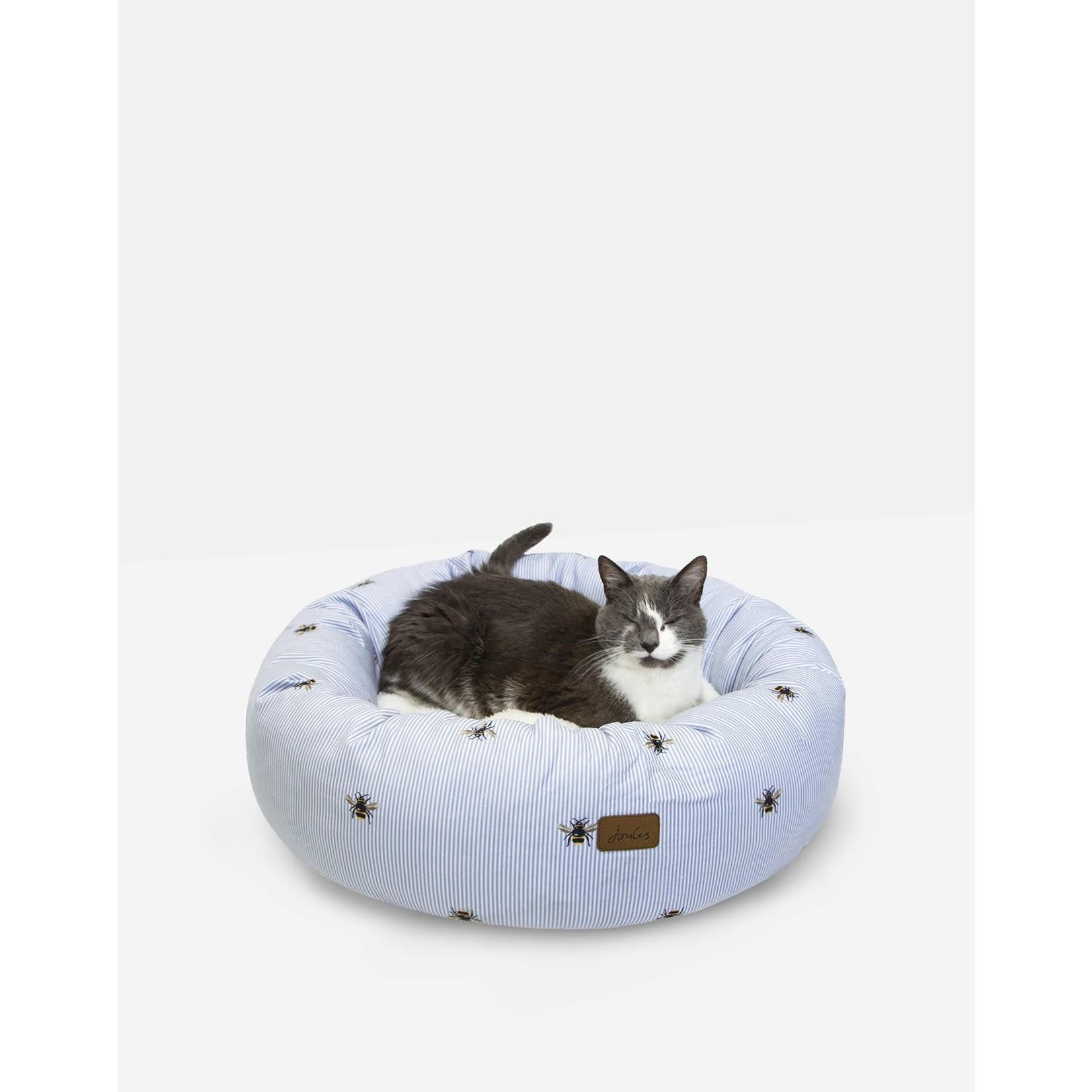 Joules Bee Print Doughnut Cat & Dog Bed, 58cm
