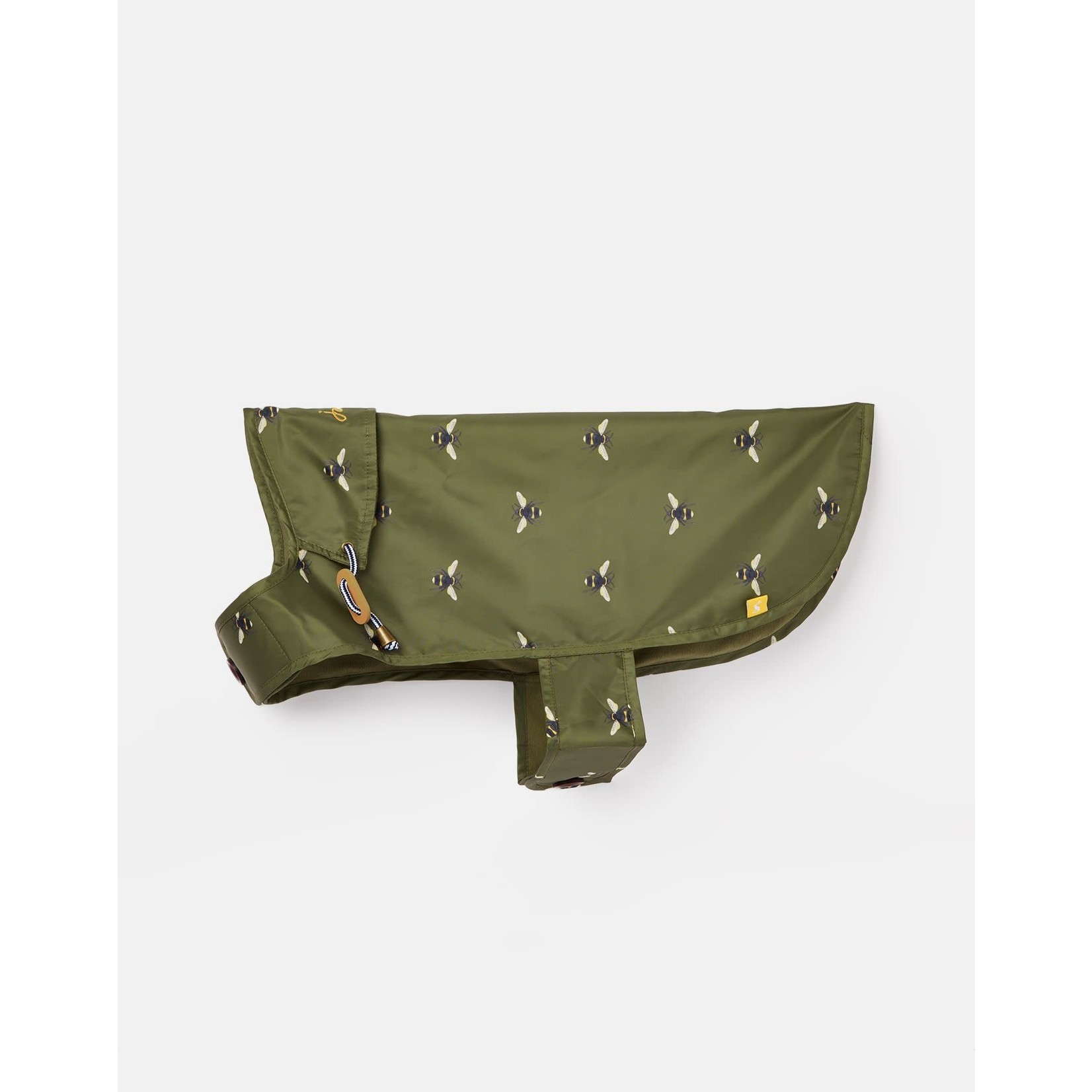 Joules Coastal Collection Bee Print Green Water Resistant Dog Coat