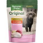 natures menu Puppy & Junior Dog Wet Food Pouch, Chicken & Lamb, 8x300g