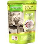 natures menu Adult Cat Wet Food Pouch, Chicken & Turkey, 12x100g