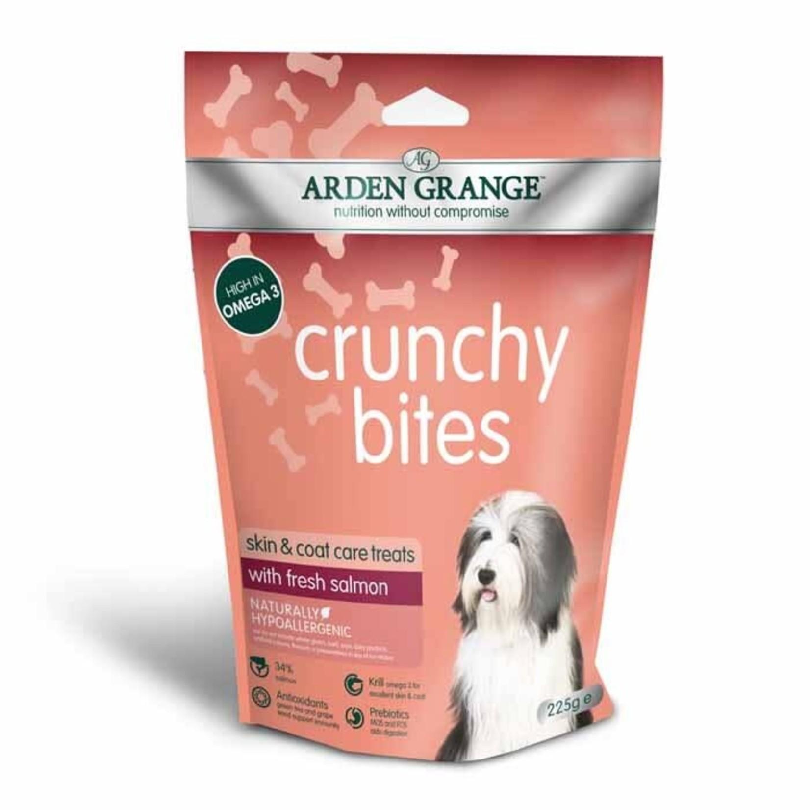 Arden Grange Crunchy Bites Skin & Coat Care Dog Treats Salmon, 225g
