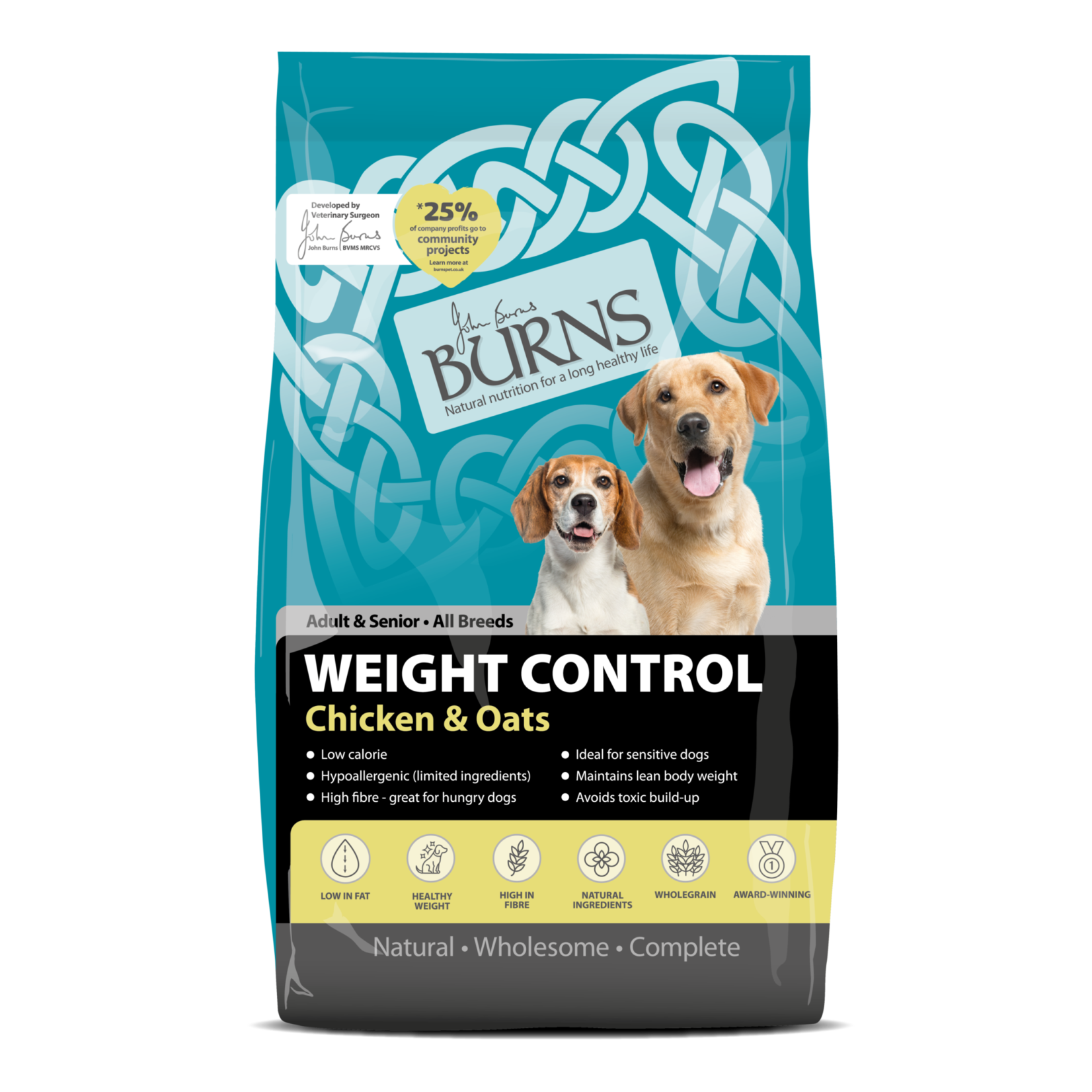 Burns Weight Control Dog Dry Food, Chicken & Oats
