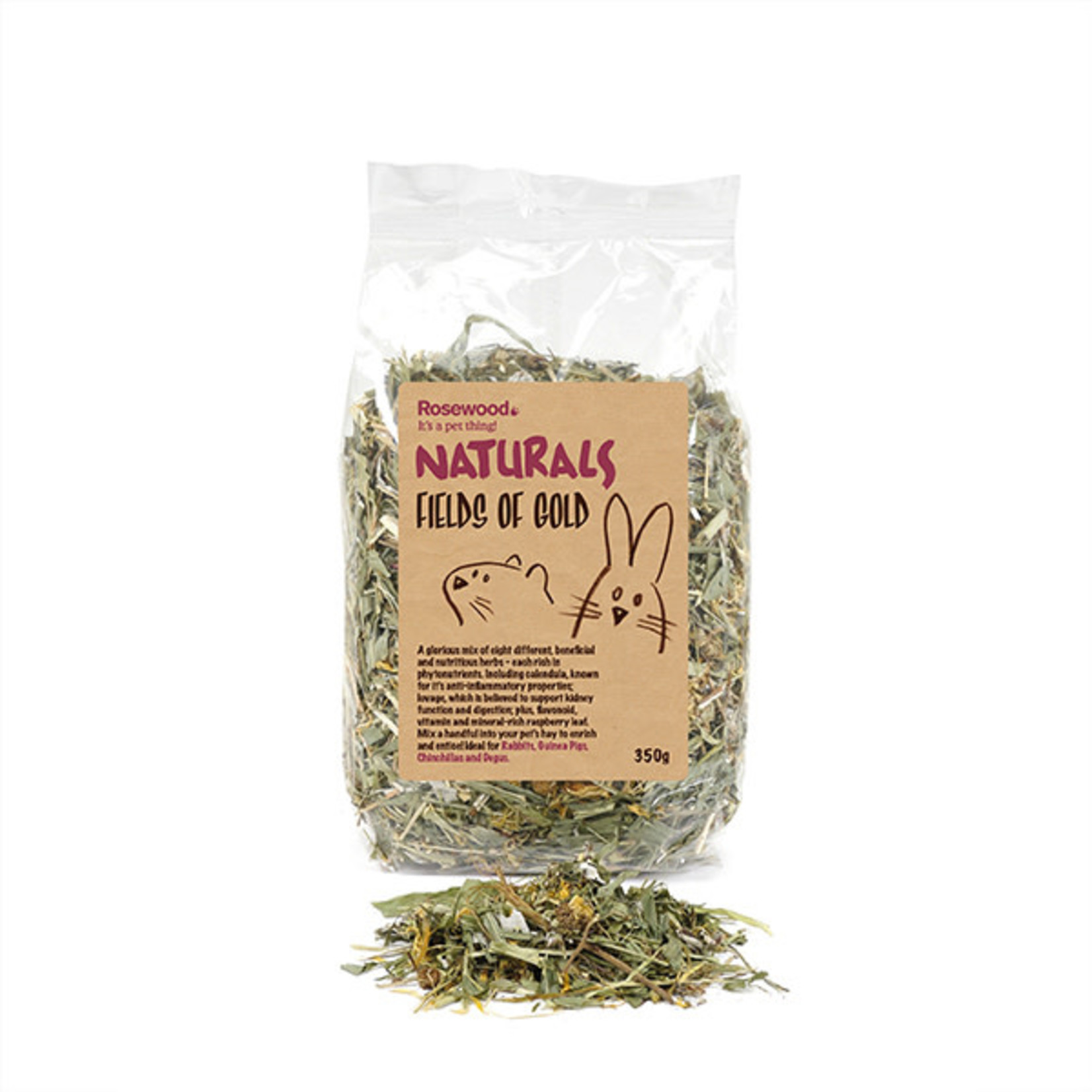 Rosewood Boredom Breaker Naturals Fields of Gold Small Animal Treat, 350g