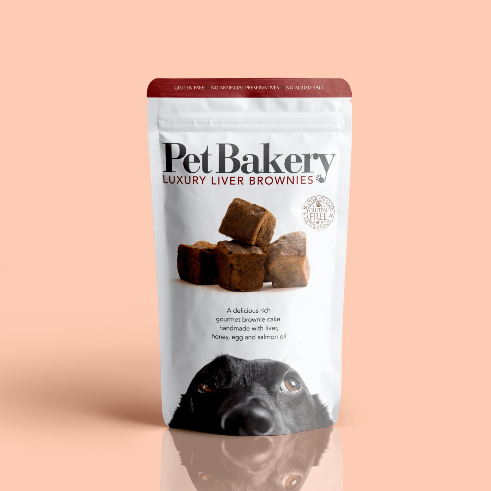 Pet Bakery Luxury Liver Brownies Dog Treats, 190g