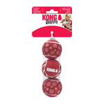 KONG Holiday Squeak Air Ball Dog Toy, Medium, 3 pack