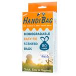 Handiscoop Biodegradable Poop Scoop Bags, 80 bags