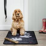 Pet Rebellion Stop Muddy Paws Big Paws Floor Mat, Black Runners 57x110cm