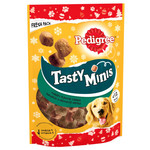 Pedigree Christmas Tasty Minis Dog Treats Chewy Cubes with Turkey, 130g