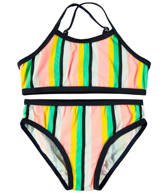 Name IT  Bikini Ztripe Neon
