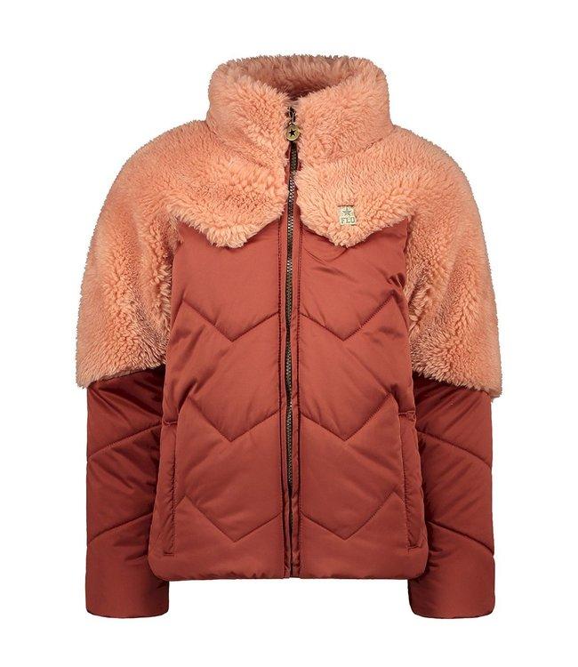 Like Flo Fancy Fur Colourblock Jas