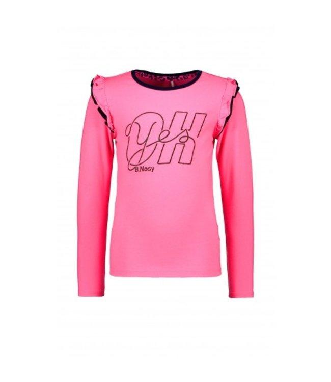 B.Nosy Shirt Ruffle Roze