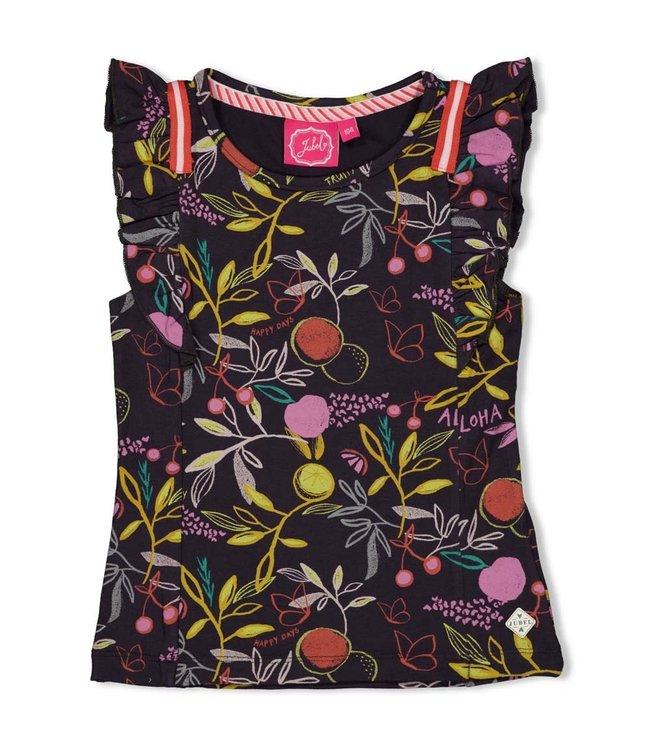 Jubel T-Shirt AOP Antraciet Tutti Frutti