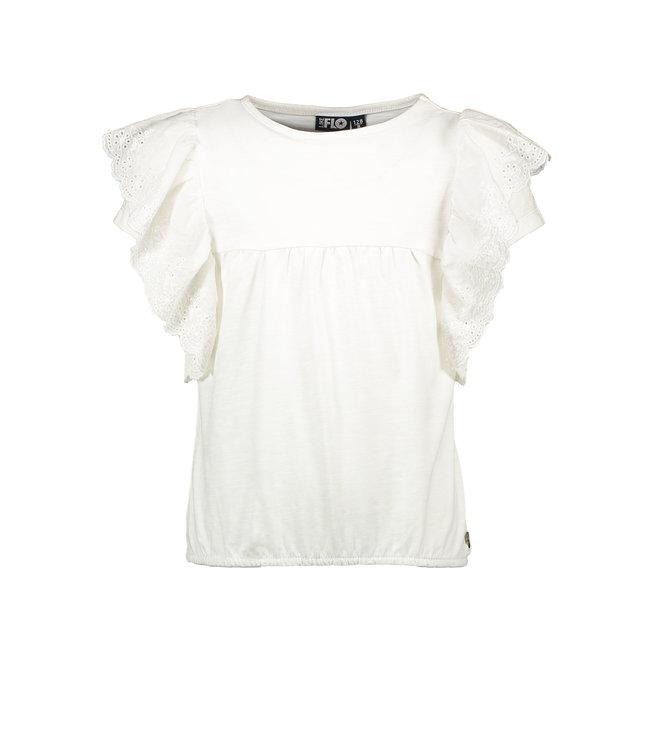 Like Flo Shirt Ruffle Borduur