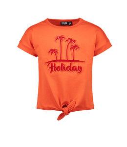 Like Flo Shirt Knotted Oranje