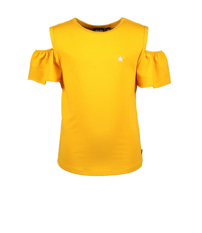 Like Flo Shirt Open Schouder Geel