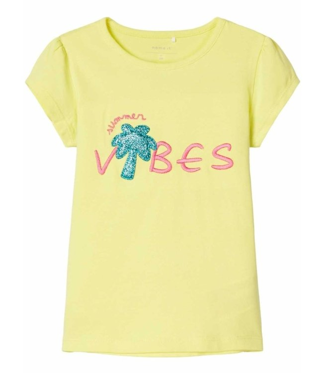 Name IT  Shirt Hapina Geel