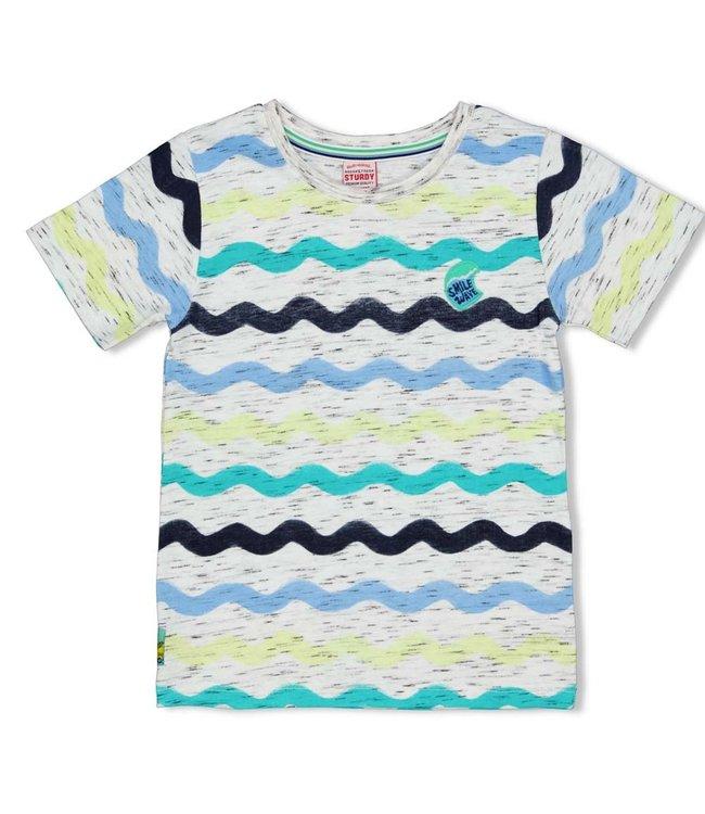 Sturdy T-shirt AOP Smile & Wave Wit