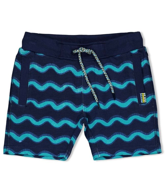 Sturdy Short AOP Smile & Wave Indigo