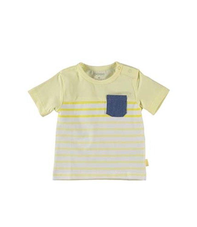B.E.S.S.  Shirt Striped Geel
