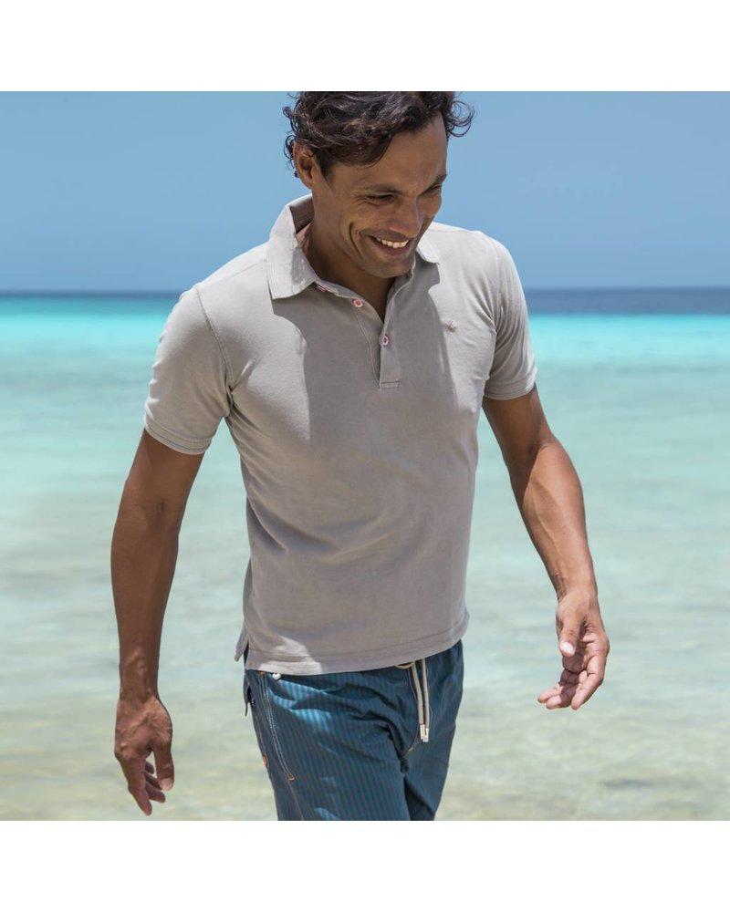 South Beach koszulka polo dla mężczyzn Beżowy