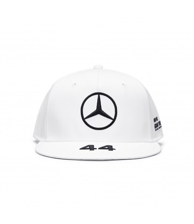 Mercedes AMG F1 Lewis Hamilton Driver Cap Flatbrim White Adult  Collection 2020