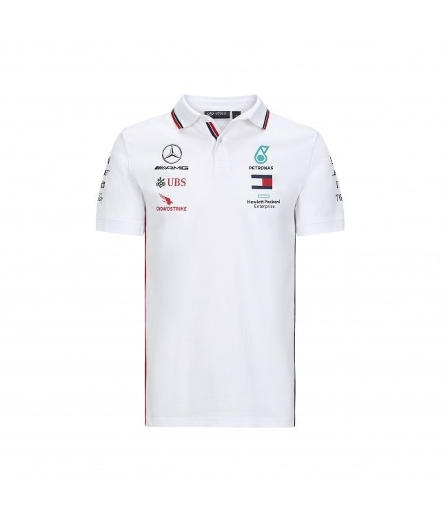 Mercedes AMG F1 Team Polo White Adult Collectie 2020