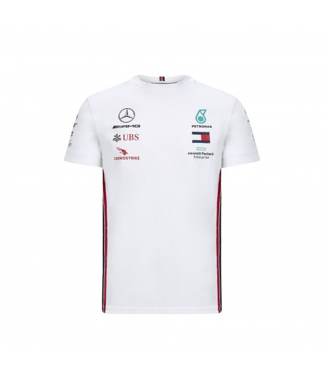 Mercedes AMG F1 Team Drivers T-Shirt White Kids Collectie 2020