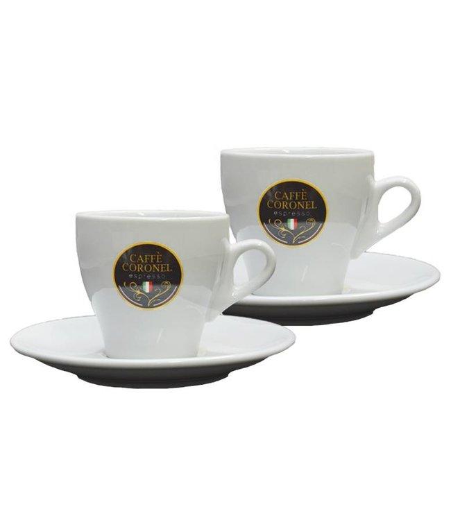 Caffè Coronel Italiaanse Lungokopjes 2 Stuks Koffiestuff