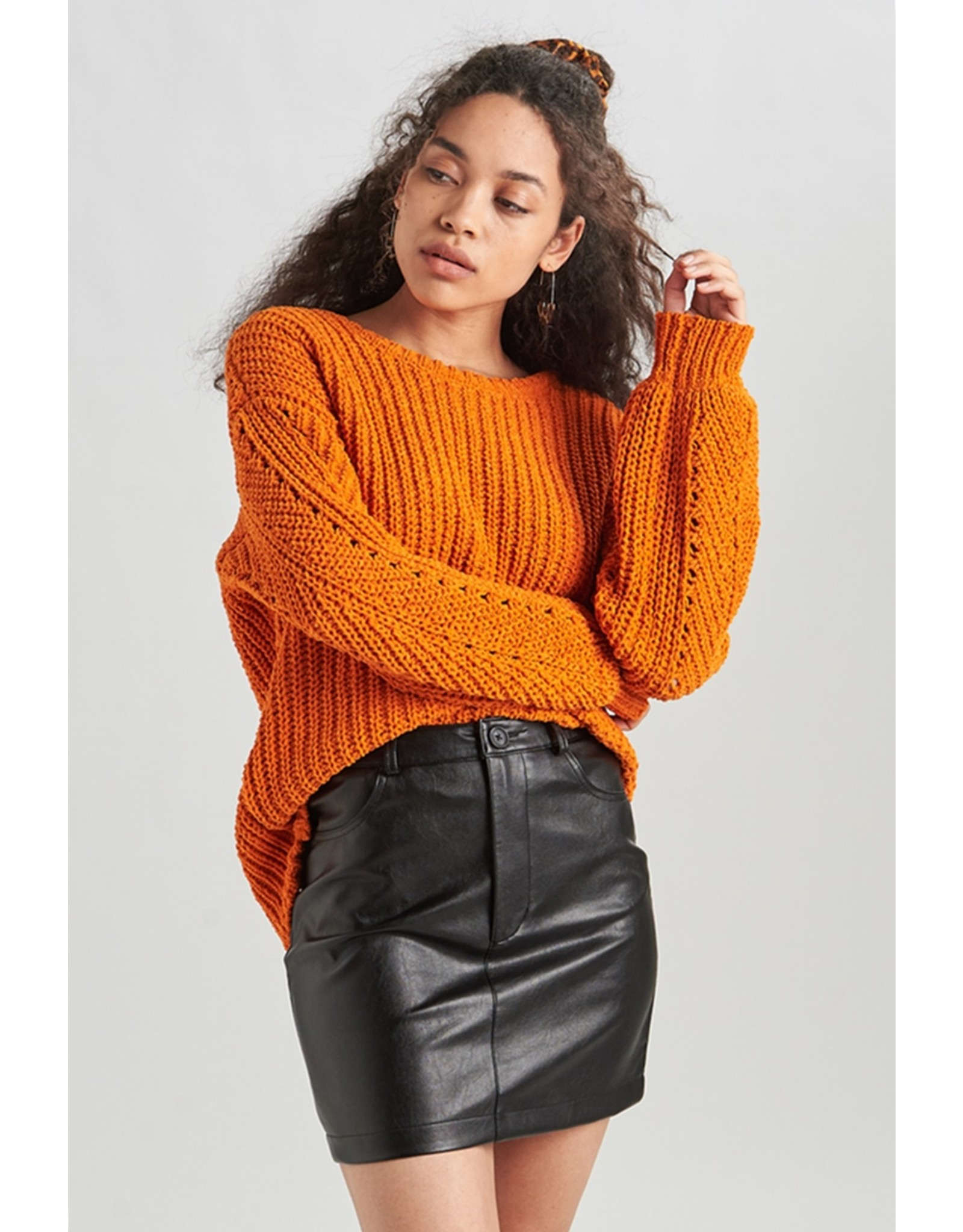 SOFT PULLOVER RUST