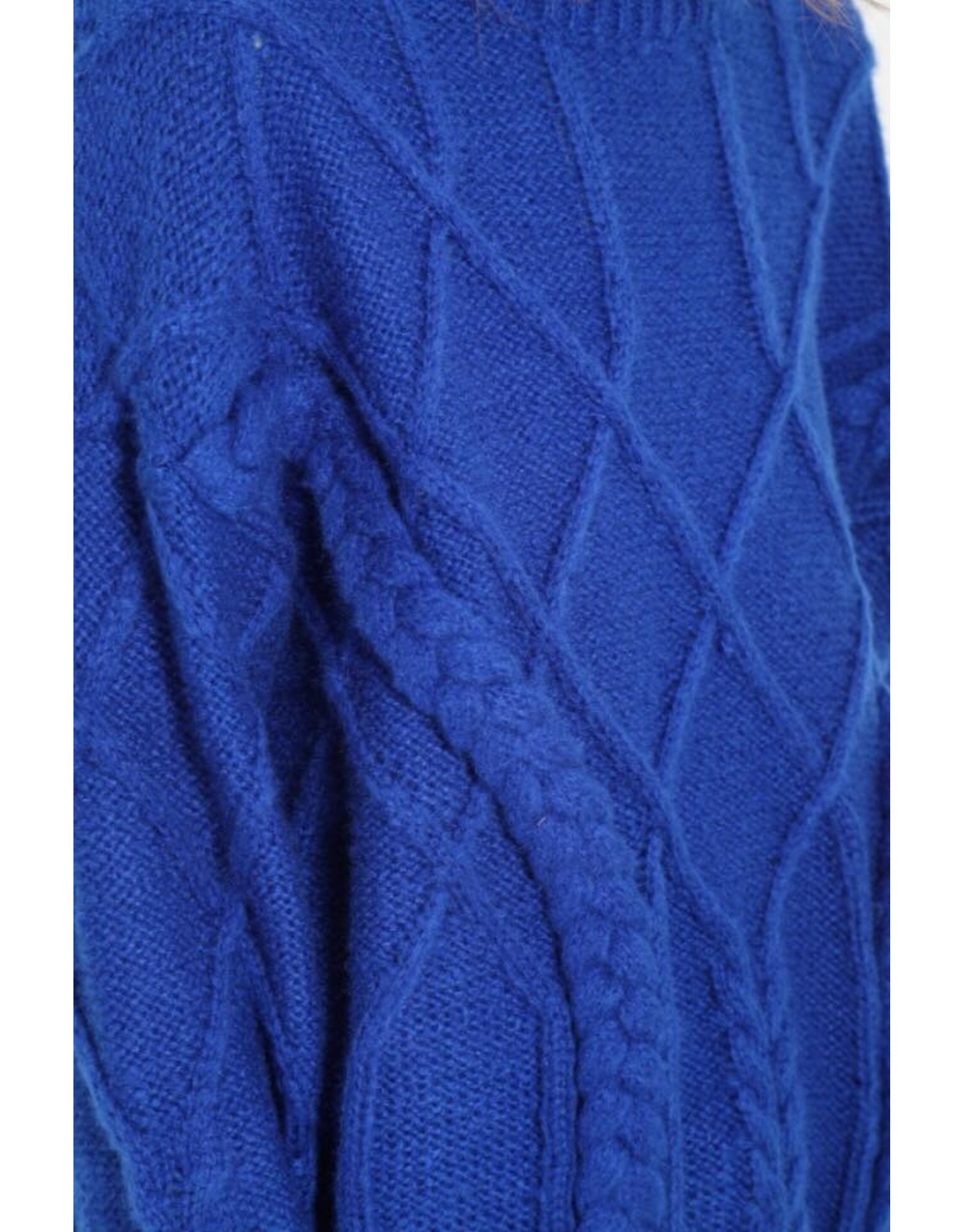 BRAIDED SWEATER COBALT BLUE