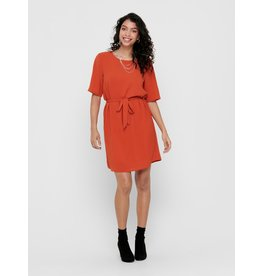 CLASSIC BELT DRESS CORAL