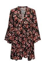 FLORAL BOHO V-NECK DRESS ROSE