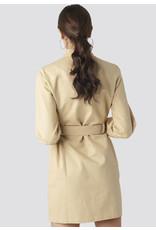 ZIPPER DRESS BEIGE